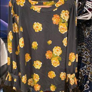 LOFT Tops - Women's THE LOFT PLUS Floral Blouse